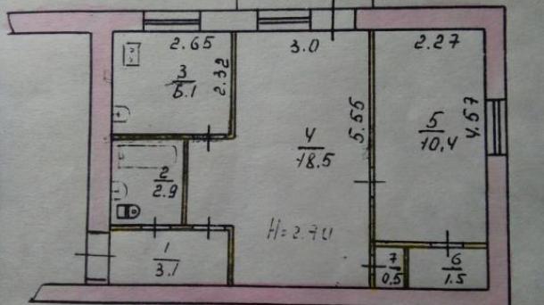 Продам 2х комнатную квартиру на Сухой Балке