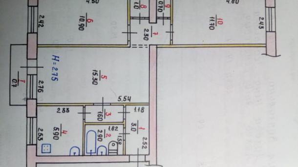 3-х комнатная на Червоной под ремонт