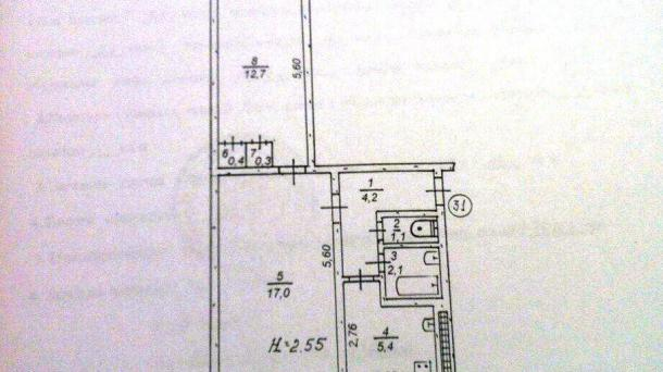 Продам двухкомнатную квартиру  на 129квартале
