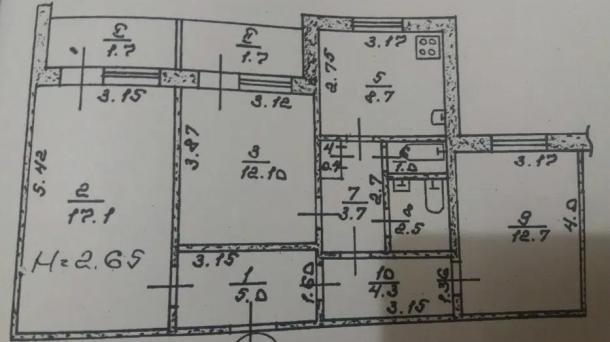 Продам 3 кімн. квартира на 3 Східному